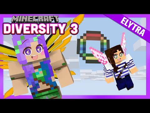Flying in Elytra for the first time!  - Minecraft Diversity 3 w/ iHasCupquake & StacyPlays - Ep.26