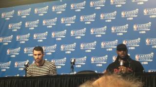 LeBron James knew Kevin Love was ready for Game 1