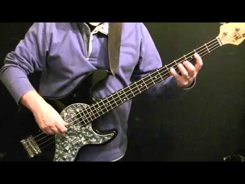 How To Play Bass Guitar To Brown Sugar - Rolling Stones - Bill Wyman