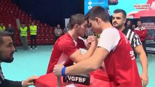 75 Kg Sağ Kol Final Müsabakası - 5. Türkiye Genç Erkekler Bilek Güreşi Yarışması