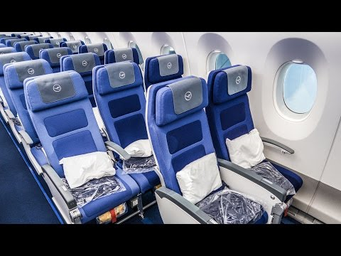 SEAT REVIEW | LUFTHANSA's brand new 2017 ECONOMY CLASS aboard the Airbus A350-900XWB!
