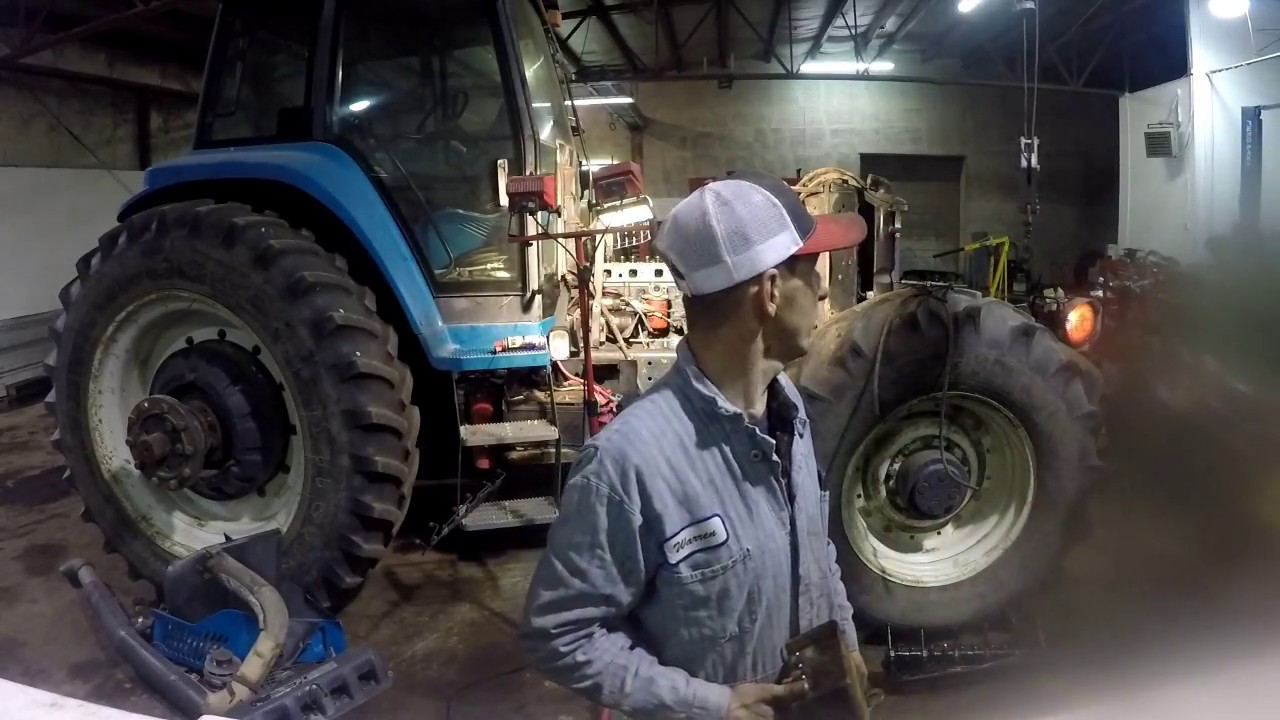 New Holland 8970 start up - Installing rebuilt cylinder head and