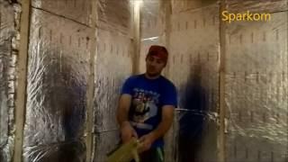 видео Пароизоляция для бани изнутри своими руками - лучшие материалы для утепления потолка, пола и стены