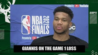 Giannis says his knee felt good in Bucks' Game 1 loss to Suns