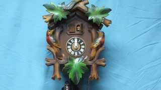 Vintage Germany Cuckoo Clock Schmeckenbecher & M. Angem With Music Box