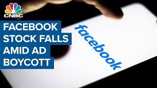 Facebook Stock Plunge As Advertisers Leave Platform