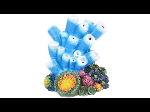 Air Bubble Stone Blue Coral Starfish Oxygen Pump Resin Crafts