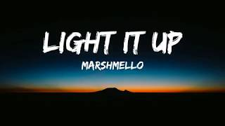 Gambar cover Marshmello, Tyga, Chris Brown - Light It Up (Lyrics  Video/Lyrics)