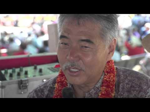 David Ige at the Okinawa Festival
