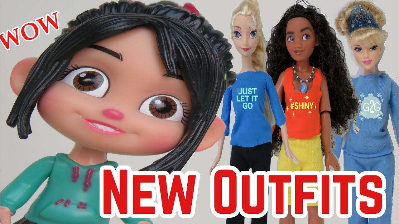 Disney Wreck It Ralph Breaks the Internet Comfy Princesses Moana /& Snow White