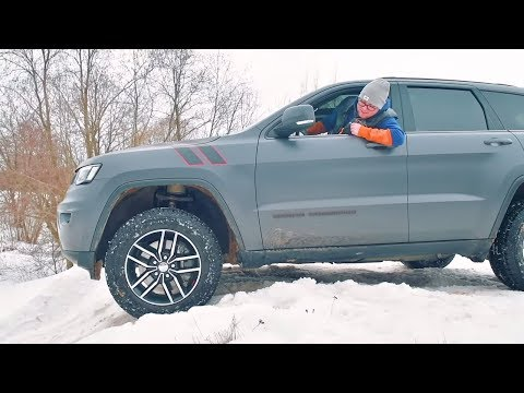 Jeep Grand Cherokee TrailHawk 2019 в снегу (возможно лучший) Россия