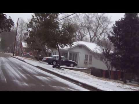 Snow in laurel Mississippi
