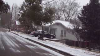 Snow in laurel Mississippi