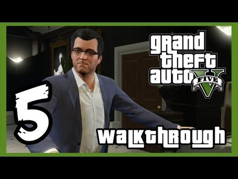 "Grand Theft Auto V Walkthrough PART 5 [PS3] Lets Play Gameplay TRUE-HD QUALITY ""GTA 5 Walkthrough"""
