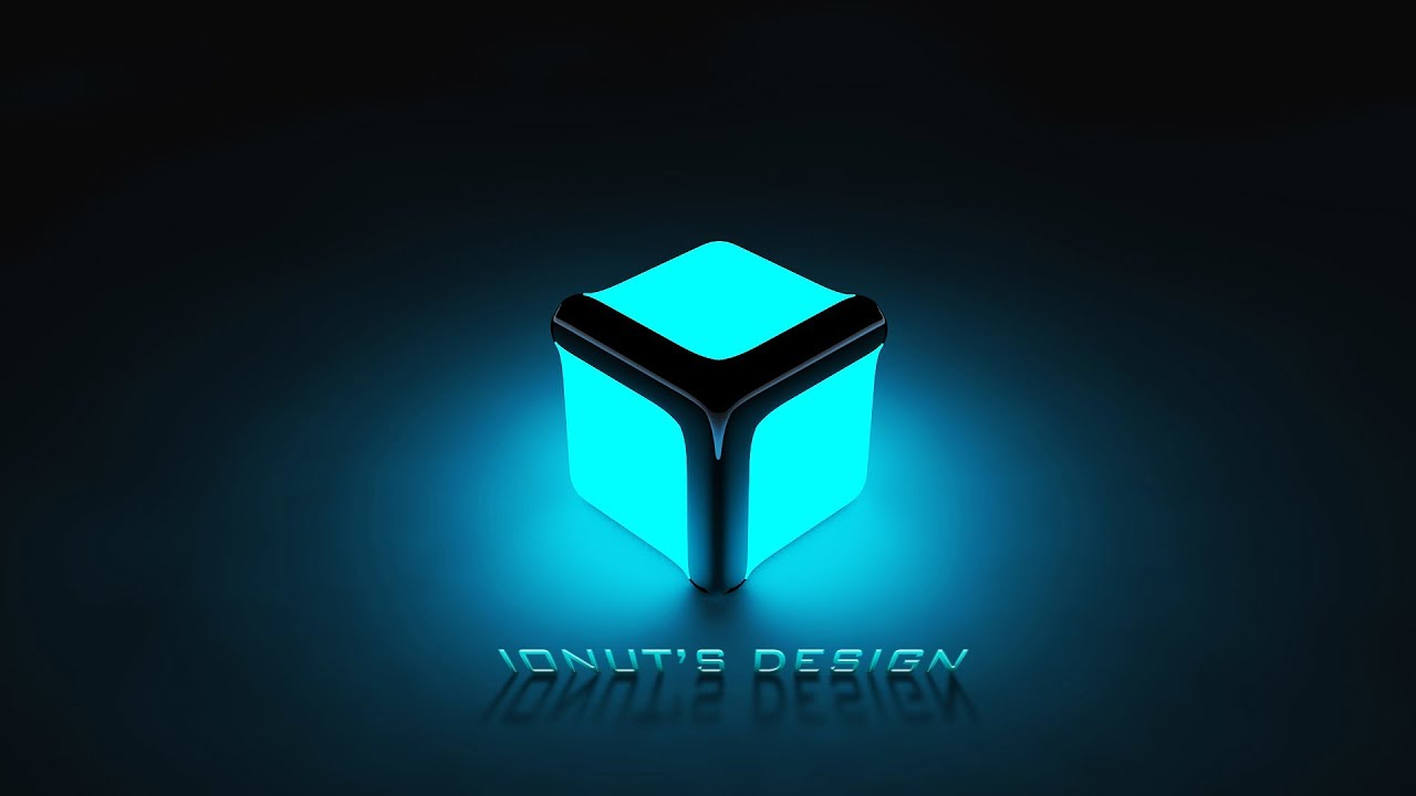 3d Cube Live Wallpaper Free Download Speed Art 3d Glowing Cube Design Youtube