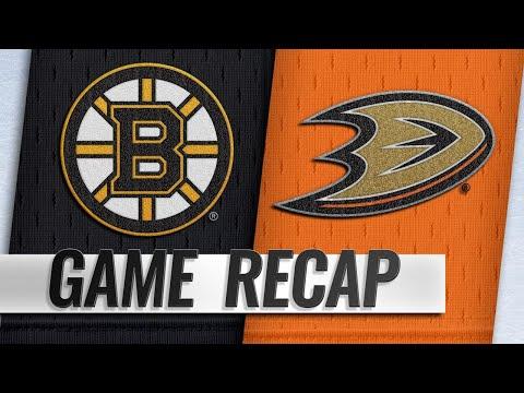Halak's 30-save shutout leads Bruins past Ducks, 3-0