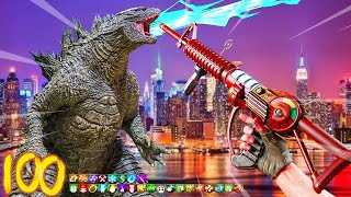"INSANE ""GODZILLA"" BOSS FIGHT EASTER EGG!!! (CALL OF DUTY ZOMBIES)"