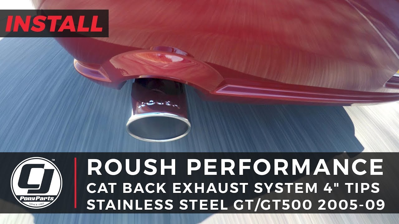 Mustang Gt Install Roush Stainless Steel Off Road Cat Back Exhaust System