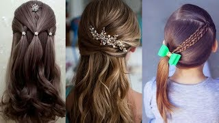 CUTE & EASY Hairstyles , Most Beautiful Hairstyles |How To Style For Own Hair #9
