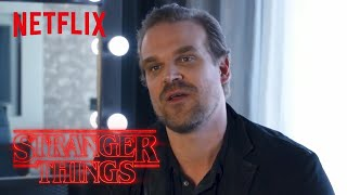 Stranger Things Rewatch | Behind the Scenes: David Harbour on Working With Kids | Netflix