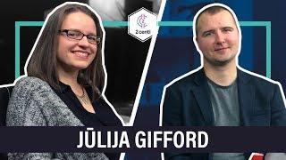 Jūlija Gifford par bēgšanu no valsts, sava uzņēmuma izveidi un satura mārketingu