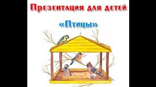 """""""Зимующие и перелетные птицы"""", презентация для детей"""
