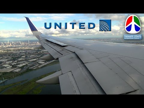 NYC Skyline   Blended Winglets   Terminal View! United757-200 Landing at Newark Airport (EWR)