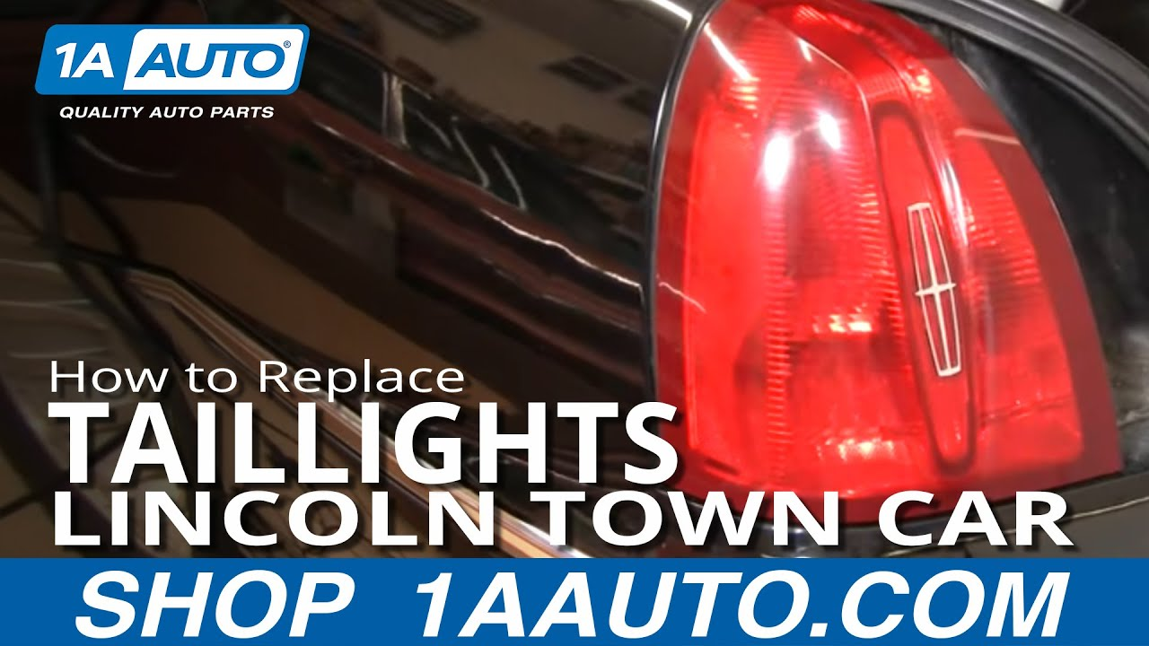 How To Install Repair Replace Broken Taillight Lincoln Town Car 9802 1AAuto  YouTube