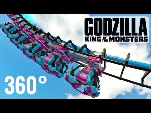 360° GODZILLA ゴジラ Roller Coaster 360 video VR POV Ride PSVR Google Cardboard