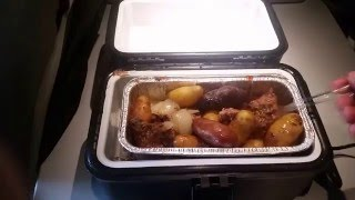 Organic Beef and Potatoes in the RoadPro 12 Volt Portable Stove
