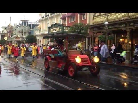 Rainy Day Cavalcade (Parade) at Magic Kingdom - January 28, 2016