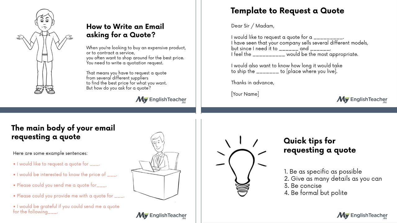 How to Write an Email asking for a Quote?