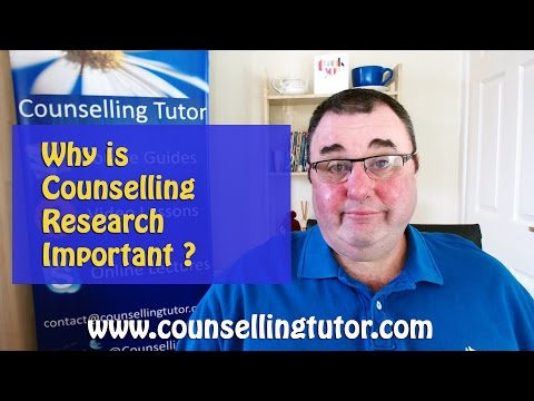 The Importance & Purpose of Research in Counselling & Psychotherapy