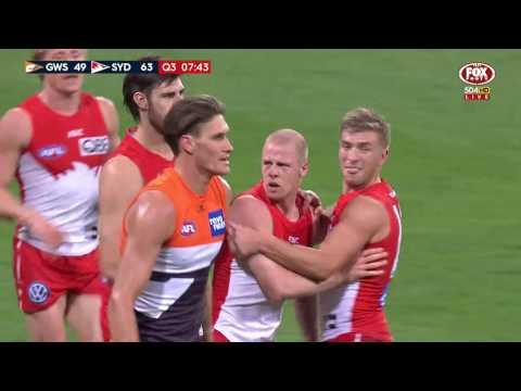 Round 17 AFL - GWS Giants v Sydney Swans
