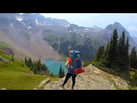 Backpacking Blue Lakes Trail, Colorado