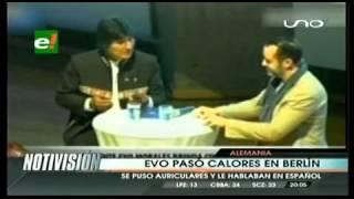 Evo Morales sufre incómodo momento en su gira a Europa