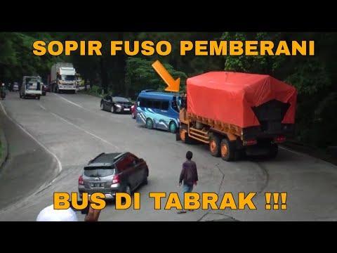 BIKIN SOPIR FUSO MARAH !! JANGAN LAKUKAN HAL INI JIKA TIDAK MAU DI TABRAK SEPERTI INI !!!