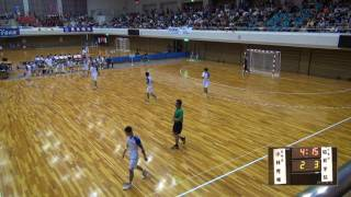 6日 ハンドボール男子 県営あづま総合体育館 昭和学院 x 小林秀峰 2回戦  1