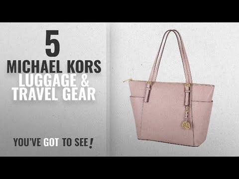 Top 10 Michael Kors Luggage & Travel Gear [2018]: MICHAEL Michael Kors Jet Set Top-Zip Tote