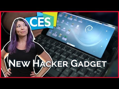 Coolest Hacker Gadget? This PDA Dual Boots Linux and Android! CES 2018