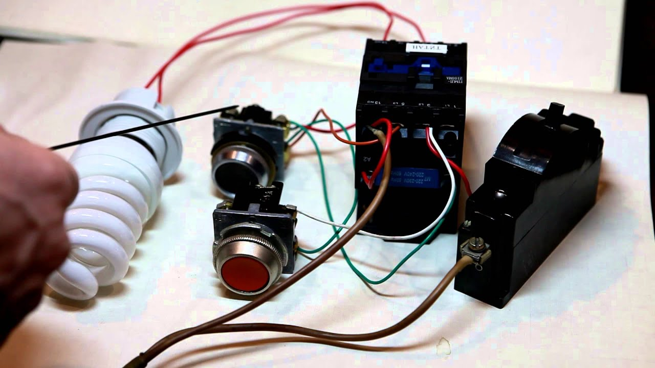 электромонтажные работы схема подключения пускатуля