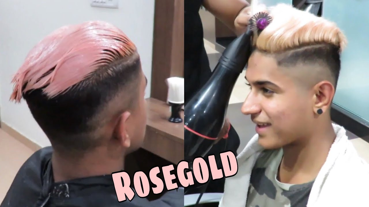 Rose Gold Hair Color In India 2018 Men Hairstyle Crazy Colour