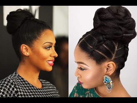 black american hair style bun hairstyles for black 2018 7412