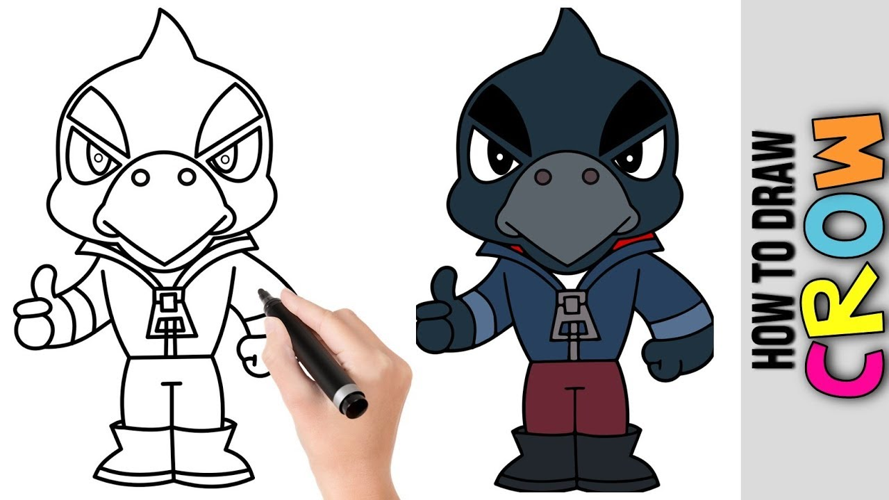 20 42 Mb How To Draw Crow From Brawl Stars ★ Cute Easy