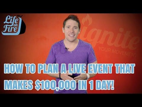 How to Plan a Live Event That Makes $100,000 in 1 Day