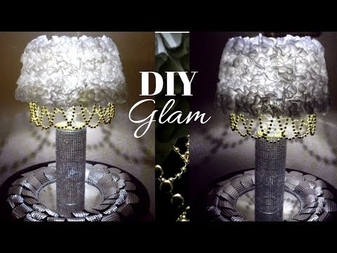 Dollar Tree DIY Table Lamp  DIY Glam Lighted Home Decor