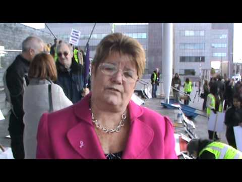 Janice Gregory AM - speaks at UNISON & PCS lobby a...