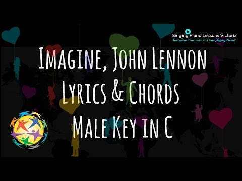 Imagine John Lennon Lyrics Chords In Male Key C Youtube