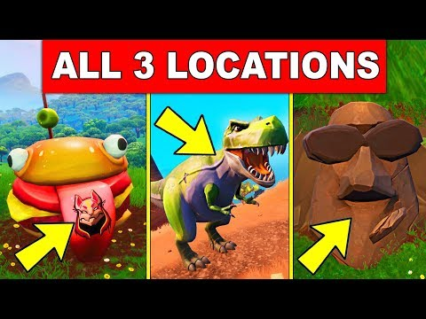 Visit Drift Painted Durrr Burger Head, A Dinosaur And A Stone Head Statue - ALL 3 LOCATIONS Fortnite