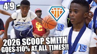 4'9 6TH GRADER 'SCOOP' SMITH GIVES 110% AT ALL TIMES!! | PERFECT Example of Heart Over Height
